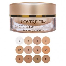 COVERDERM Classic Waterproof Concealing Foundation SPF30, no.1 - 15ml