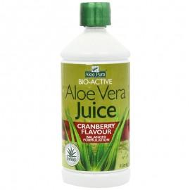 Optima Aloe Pura Χυμός Aloe Vera Juice με Κράνμπερι 1000ml