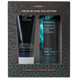 KORRES Set Blue Sage, Αφρόλουτρο - 250ml & After Shave - 125ml