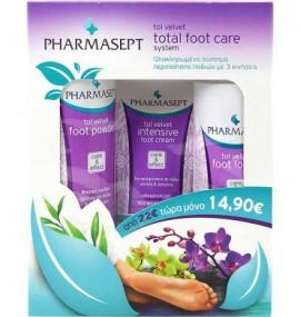 PHARMASEPT Tol Velvet Foot Care System Ολοκληρωμένο Σύστημα Περιποίησης Ποδιών με 3 κινήσεις