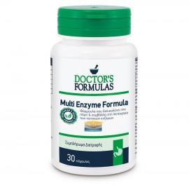 DOCTOR'S FORMULAS Multi Enzyme Formula, Διευκόλυνση Πέψης - 60caps