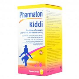 PHARMATON Kiddi Συμπλήρωμα Διατροφής Σιρόπι Με Γεύση Πορτοκάλι 200ml