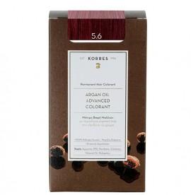KORRES Βαφή Argan Oil 5.6 Καστανό Ανοιχτό Κόκκινο - 50ml
