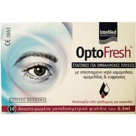 INTERMED Optofresh Σταγόνες για Οφθαλμικές Πλύσεις 10 x 0.5ml