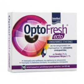INTERMED OptoFresh Ecto, Οφθαλμικές Σταγόνες - 10 αμπούλες x 0.5ml