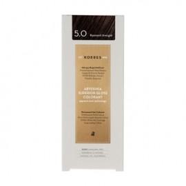 KORRES Βαφή Μαλλιών Abyssinia Superior Gloss Colorant Καστανό Ανοιχτό 5.0 50ml