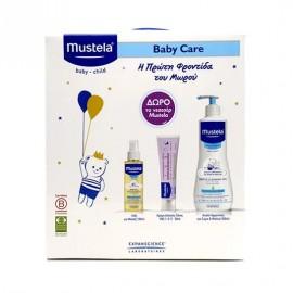 MUSTELA Baby Care Huile De Massage -100ml & Vitamin Barrier Cream VBC 123 - 50ml & Gel Lavant Doux Hair and Body - 500ml & ΔΩΡΟ Νεσεσέρ.