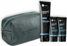 PANTHENOL Extra Gift for Him Νεσεσέρ, Face & Eye Cream-  75ml & After Shave Balm - 75ml & 3 In 1 Cleanser - 200ml