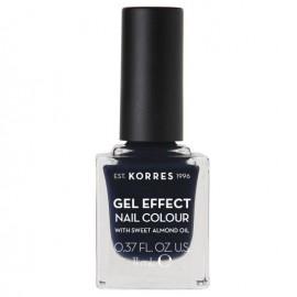 KORRES Gel Effect Βερνίκι Νυχιών Steel Blue No88 Με Αμυγδαλέλαιο 11ml