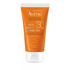AVENE Fluid Dry Touch SPF30, Λεπτόρρευστη Αντηλιακή Κρέμα Προσώπου - 50ml