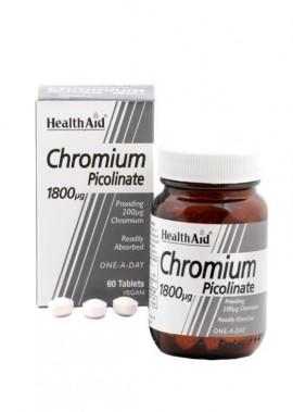 HEALTH AID Chromium Picolinate Χρώμιο Πικολινικό 1800μg 60tabs