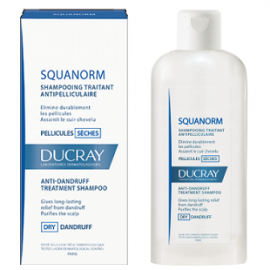DUCRAY Squanorm Shampooing Antipelliculaire - Αντιπιτυριδικό Σαμπουάν για Ξηρή Πιτυρίδα 200ml