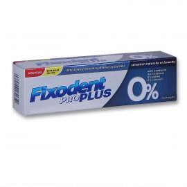 FIXODENT Cream Pro Plus 0% Στερεωτική Κρέμα Οδοντοστοιχιών 40gr