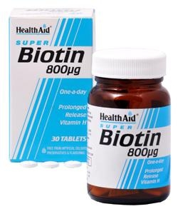 HEALTH AID Biotin 800μg VIT H 30Tabs